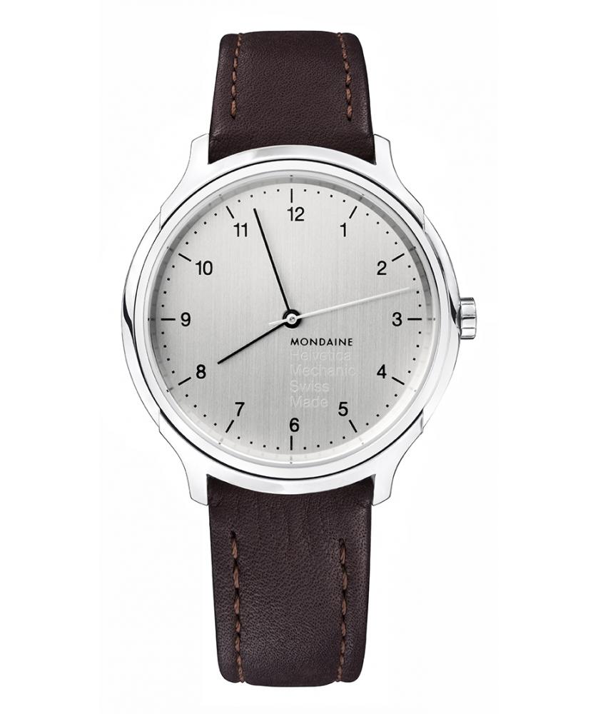 Reloj Mondaine Helvetica No1 Regular Handwinder 40 MH1.R3610.LG