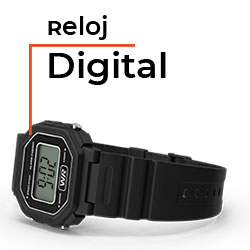 Tipos de relojes de pulsera - Reloj digital